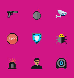 set of 9 editable procuring flat icons includes vector image vector image