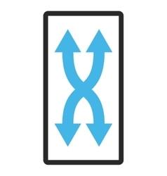 Shuffle arrows vertical framed icon vector