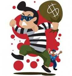 thief-runaway vector image vector image