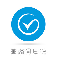 Tick sign icon check mark symbol vector