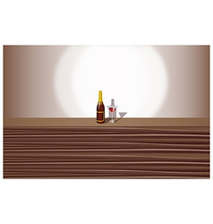 Wine Cocktail Background vector image vector image