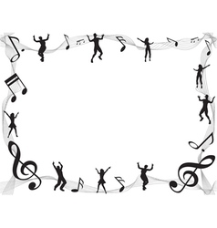 Musical Border vector image