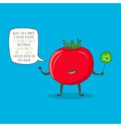 Tomato cartoon character vector image
