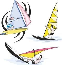 Sport sailing vector