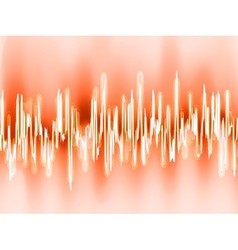 Sound waves oscillating glow light EPS 8 vector image