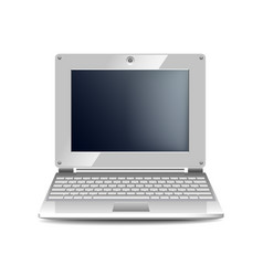 White netbook isolated on white vector