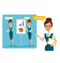 Business women characters presentation vector