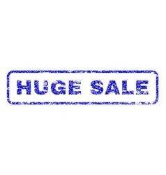 huge sale rubber stamp vector image