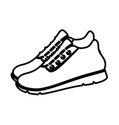 Runner shoes isolated icon vector