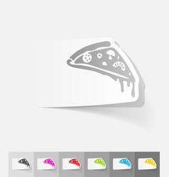 Realistic design element pizza vector