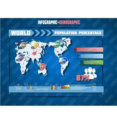 Infographic demographic world map special edition vector