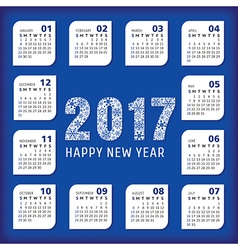 2017 year office calendar vector image