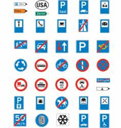 Road signage vector