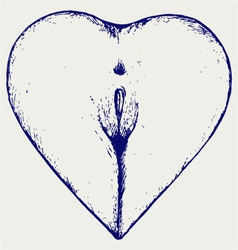 Female ass in the form of heart vector image