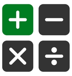 Calculator icon from business bicolor set vector