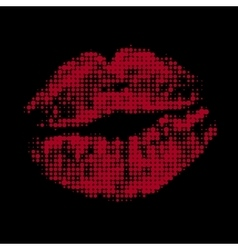 Halftone lips vector