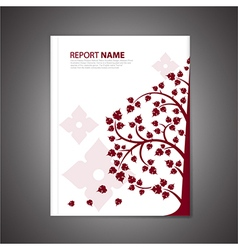 Report cover thai vector