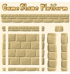 Stone platform for games vector