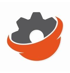 gear logo design vector image