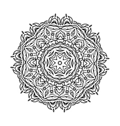 Circular ornament mandala design vector