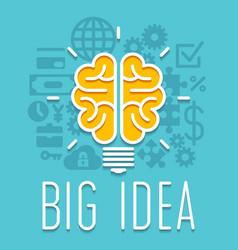 Rich idea innovation light bulb infographic vector