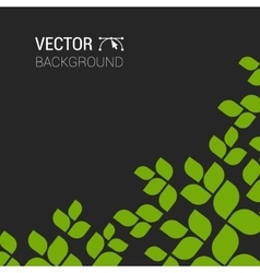 branch with fresh green leaves green plant vector image
