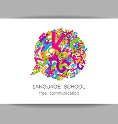 Language school free communication vector