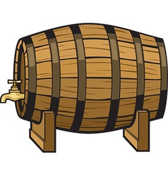 Beer barrel vector image vector image