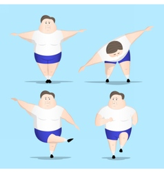 Big man fitness vector image vector image