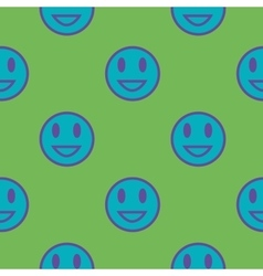 Blue smiley geometric seamless pattern vector image