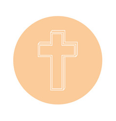 christian cross icon vector image vector image