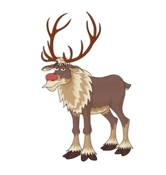 Christmas red nose reindeer rudolph with vector