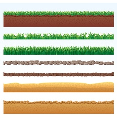 different seamless grounds vector image vector image