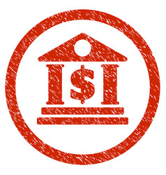 Dollar bank rounded grainy icon vector