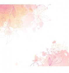 Floral back splash pink vector