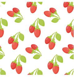 goji berries seamless pattern vector image