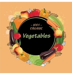 Hand drawn eco vegetables set autumn harvest vector