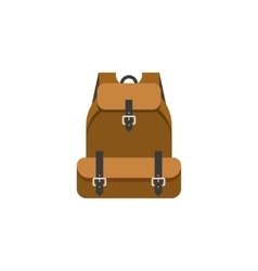 Hiking backpack isolated flat vector image vector image