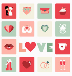 Icon of love symbol for valentine day vector