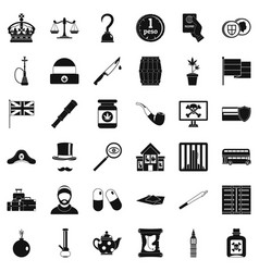 Insult icons set simple style vector