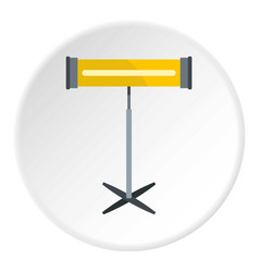 Modern bathroom towel dryer icon circle vector