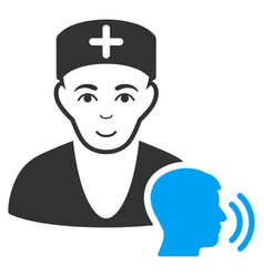Psychotherapist doctor visit icon vector