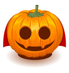 pumpkin dracula for halloween vector image