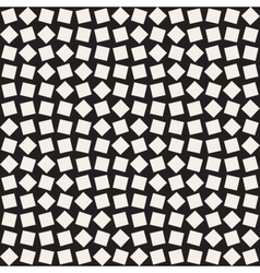 Seamless Black And White Square Rhombus vector image