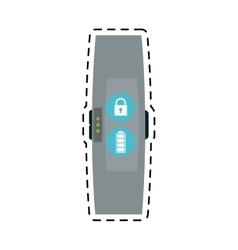 Smart watch bracelet line vector