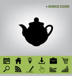 tea maker kitchen sign black icon at gray vector image