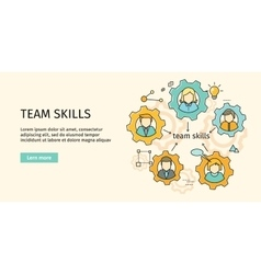 Team Skills Banner Avatar in Gear vector image