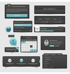 Website template ui elements vector