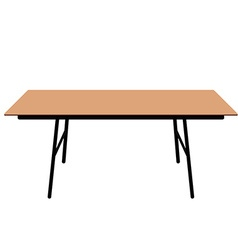 Wooden dining table vector