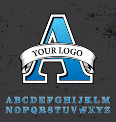 your logo poster vector image vector image
